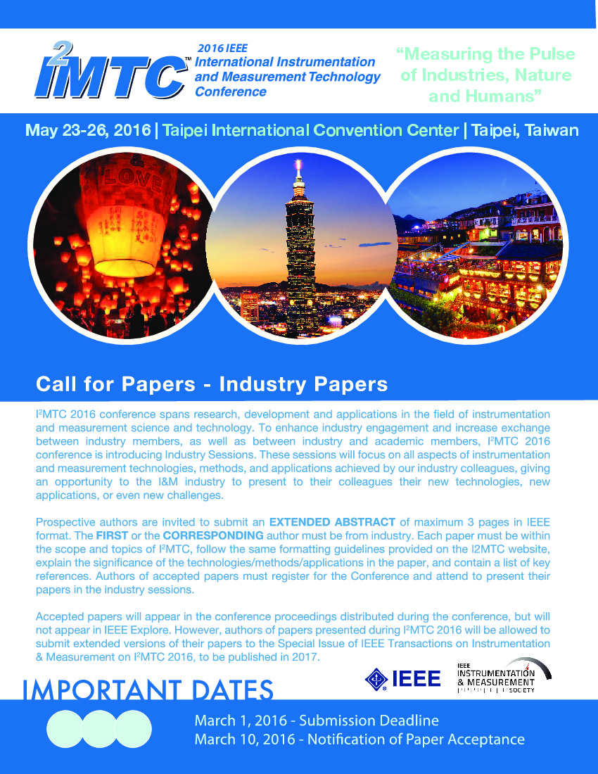 Visas invitation letters i2mtc 2016 call for industry papers altavistaventures Gallery